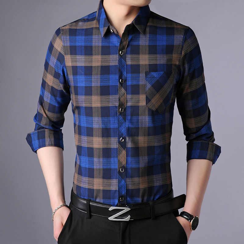 Элегантная Высококачественная Мужская рубашка известного бренда весна лето