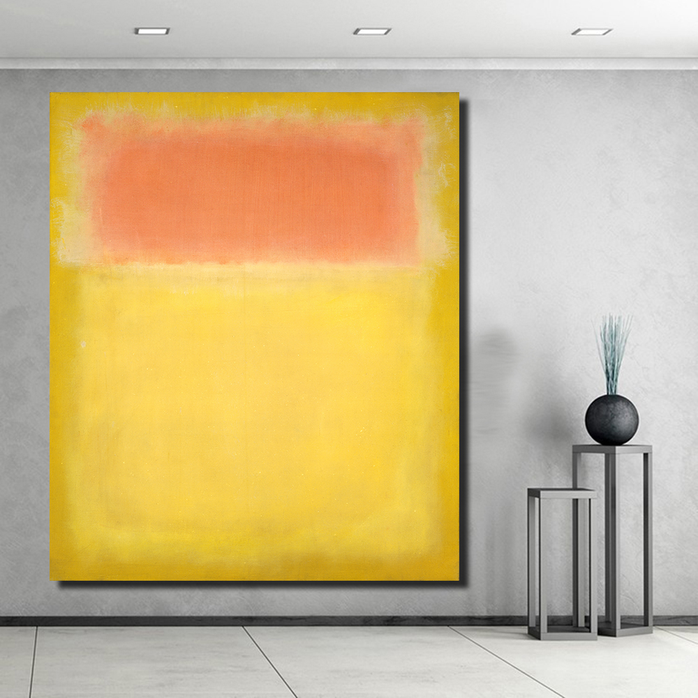 no Framed Modular Paintings on the Wall Colorful Yellow Canvas Wall Pictures for Living Room Office Bedroom