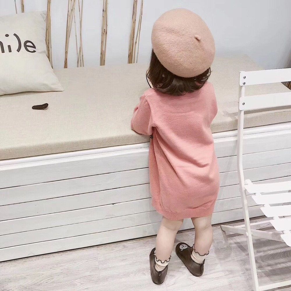 Children Sweaters Baby Girls Pink Knitted Sweater for Kids Clothes Autumn New Kids Sweaters in middle of September pink solid color off shoulder crop bodycon sweaters vests