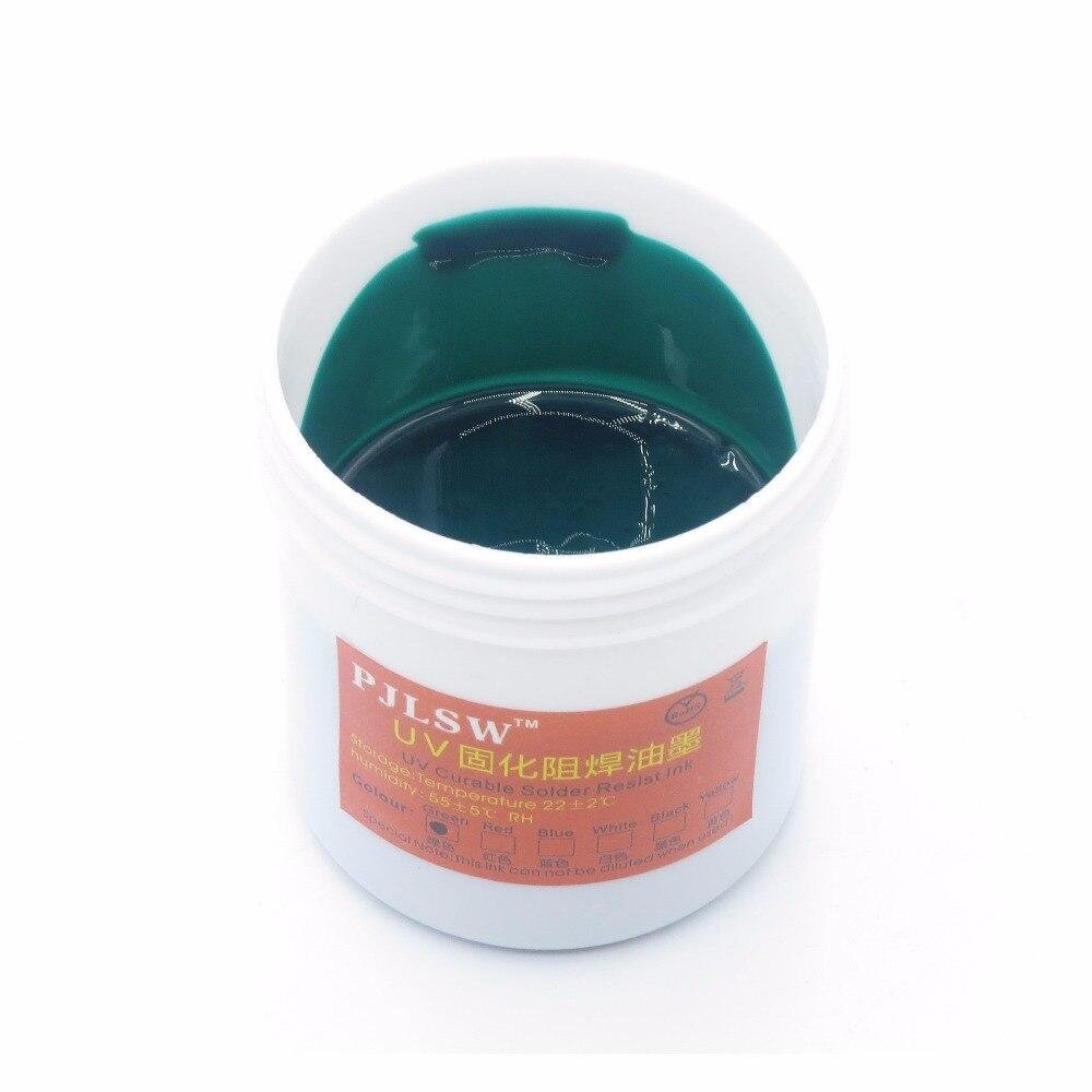 Livraison gratuite PCB UV encres photosensibles, vert PCB UV curable solder resist encre, masque de soudure UV encre