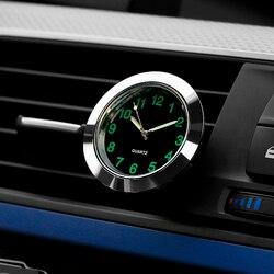 Автомобильные кварцевые часы, декоративные часы для автомобиля, автомобильные часы в салон, цифровой указатель, зажим для кондиционера
