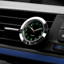 Automobile Quartz Clock Car Decoration Watch Ornaments Vehicle Auto Interior Watch Digital Pointer Air Conditioning Outlet Clip(China)