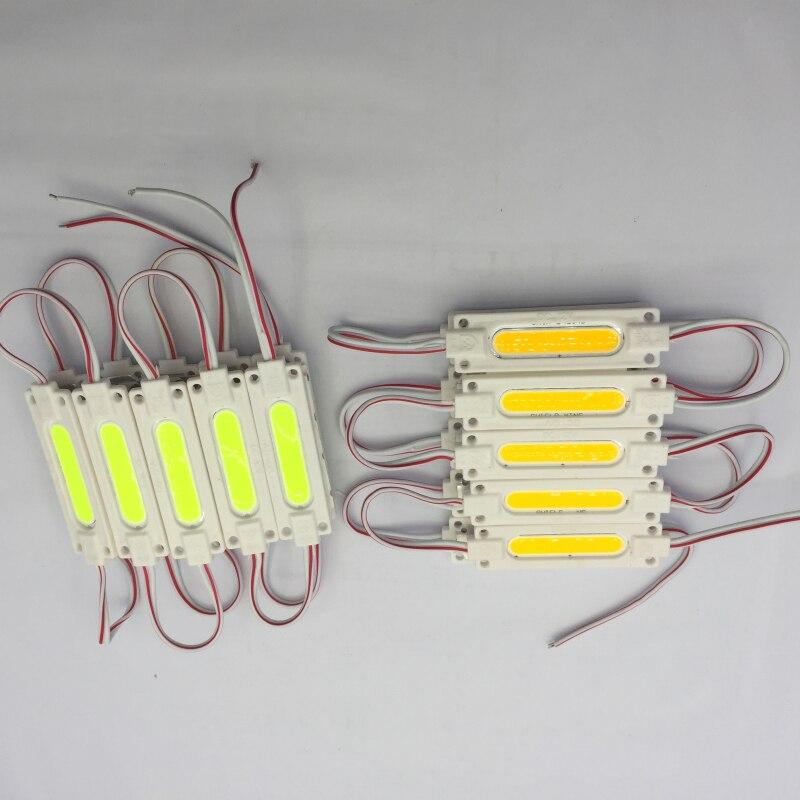 20 штук DC12V COB модуль реклама лампа вел модуль для светодиодные рекламные вывески подсветки буквы канала модуля