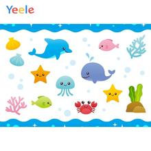Yeele Wallpaper Photocall Undersea World Animal Cute Photography Backdrop Personalized Photographic Backgrounds For Photo Studio