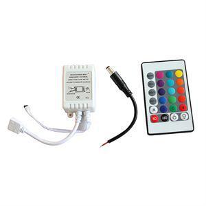 Mini Controller 1PC DC12V 24 Keys IR Remote RGB Controller For SMD3528/5050/5730/5630/3014 RGB LED Strip Lights