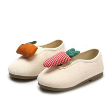 New Spring/Autumn Children Canvas Shoes Boys Girls Baby Soft bottom Breathable Casual Shoes Student Cute wild Kids Flats 02A