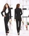 Terninhos formais Uniforme Estilo Outono Inverno Moda Slim Mulheres de Negócio Trabalho Usam Ternos Jaquetas E Calças Para Senhoras Definir