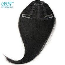 Bhf человеческих волос Накладные чёлки 8 дюймов бразильский Реми зажим в волосах Fringe