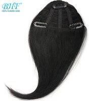 BHF Human Hair Clip Bangs 8inch Brazilian Remy Human Hair Fringe Clip In Human Hair Extension