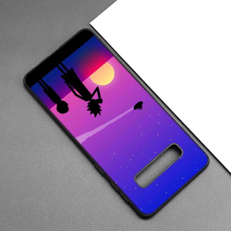 Rick Và Morty Silicone Đen dành cho Samsung Galaxy Samsung Galaxy M20 S10e S10 S9 M10 S8 Plus 5G S7 S6 edge M40 M30 Hoạt Hình Bìa Mềm Coque