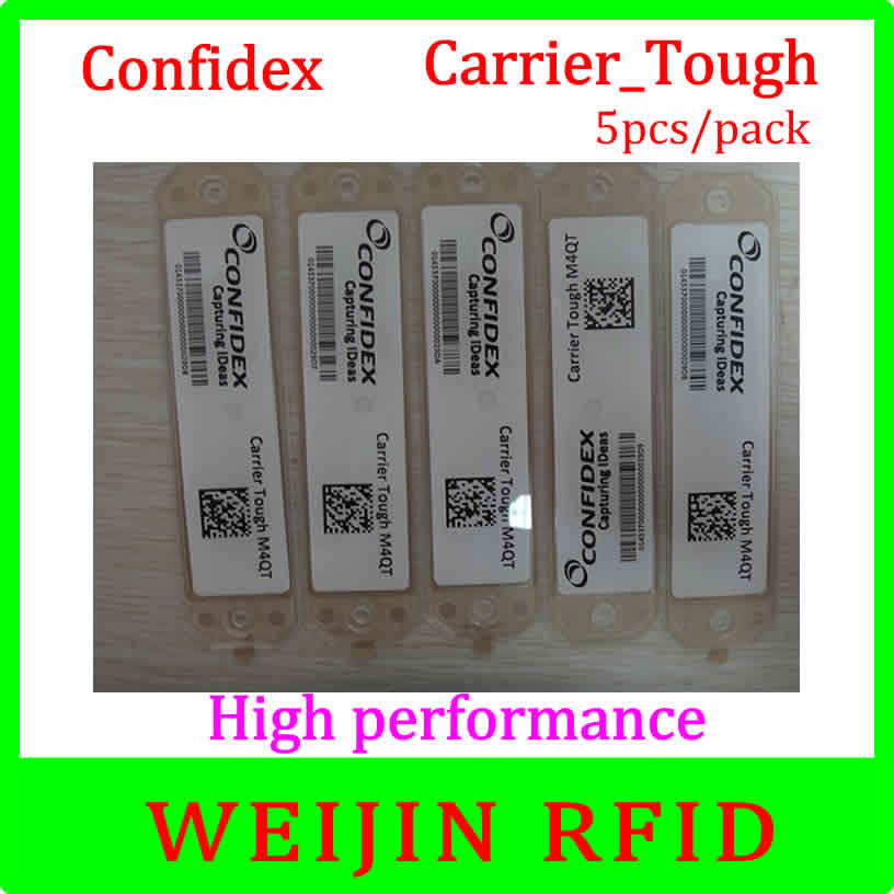 Confidex carrier Tough 5pcs per pack UHF RFID tag 860-960MHZ 915M EPC C1G2 ISO18000-6C free shipping