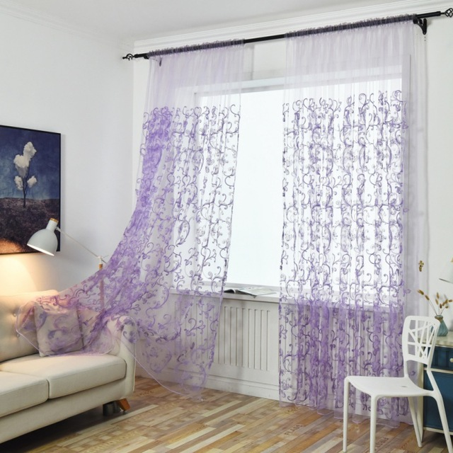 Hook Embroidery Hook Glass French Romantic Shiny Butterfly Embroidery Voile  Curtains Window Home Textile Panel Bedroom