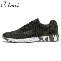 Tleni 2018 New men Military Camouflage Mesh Breathable Men's Sport Running Shoes Army Green Trainers ZC 09
