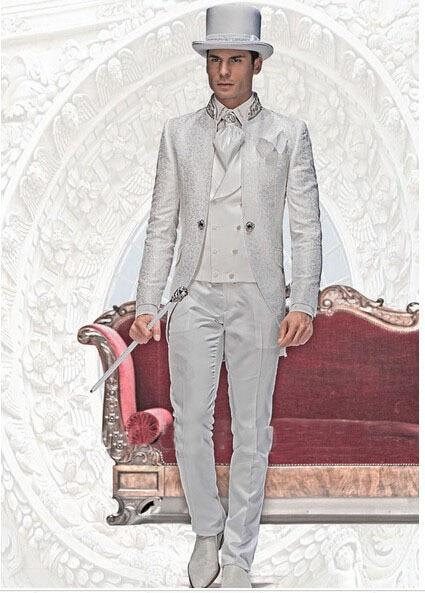 Italian Styles Morning Baroque Wedding Suits/best Man Suit/wedding Groom Wear Clothes/bridegroom Men Suits/party Dress For Men