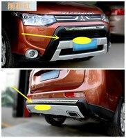 Для Mitsubishi Outlander 2013.2014.2015 БАМПЕРА (Передние + Задние) ISO9001 Высокое Качество Авто БАМПЕР Плиты