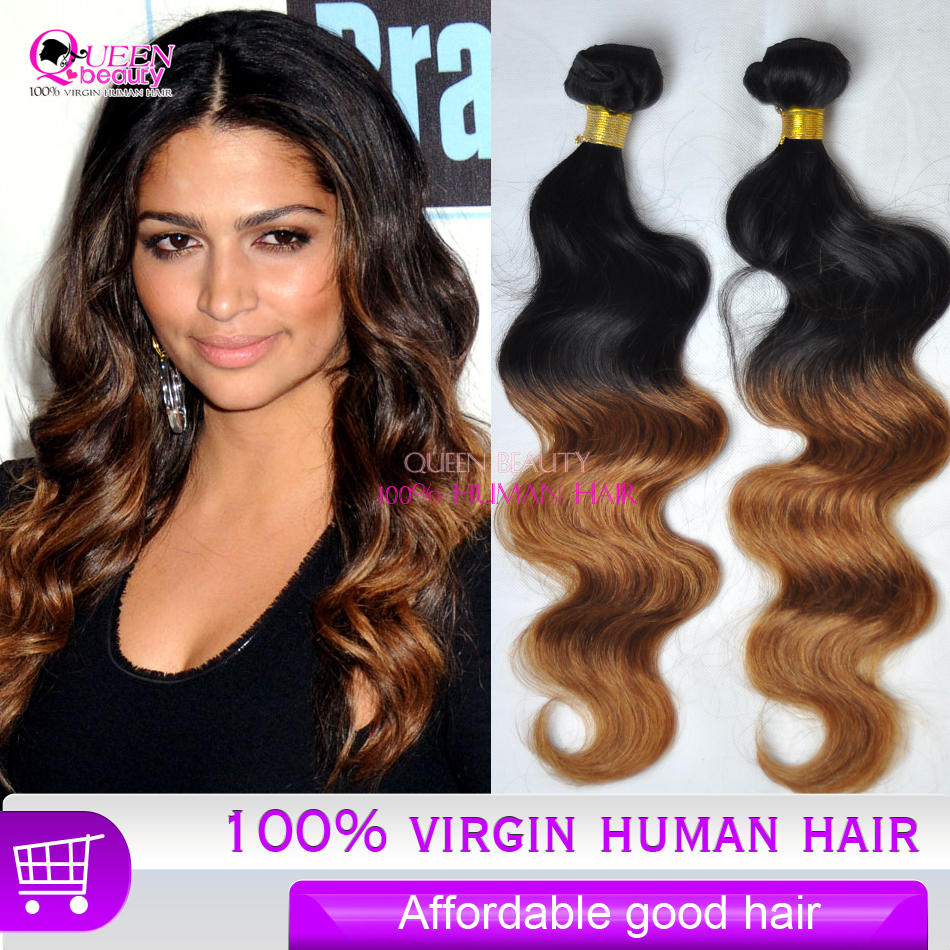 affordable, Cheap Ombre human Hair Extension 3pcs/lot ...