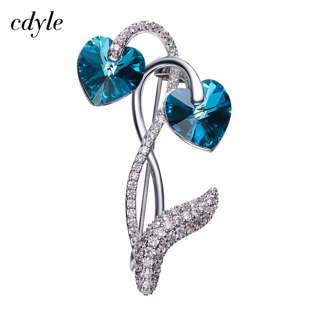 Cdyle Crystals from Swarovski Brooches for Women Austrian Rhinestone  Fashion Jewelry   Clothing Accessories Elegant Chic 54b9becf91f6