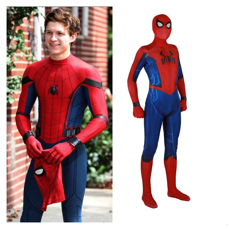 New Game Anime Spider Man Peter Parker Cosplay Costumes Kids Adult Zentai Spideran Tights Jumpsuits Bodysuit Suit 2019