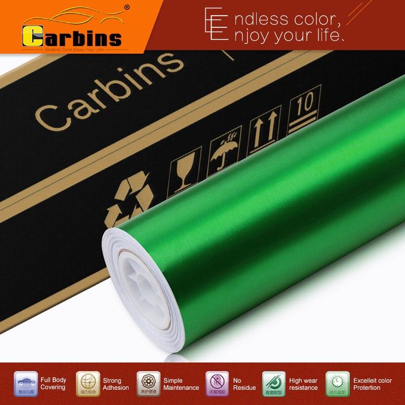 ⑦Mate verde metálico cromo cepillado hoja del vinilo para los ...