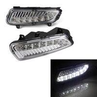 Car LED DRL Daytime Running Light Driving Lamp 2pcs/set For Volkswagen Polo 2011 2013 White