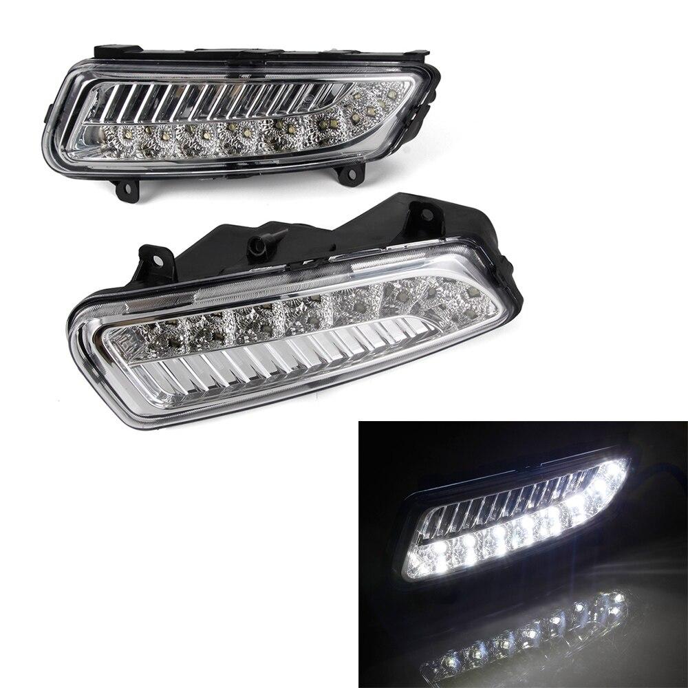 LED de voiture DRL feux de jour lampe de conduite 2 pièces/ensemble pour Volkswagen Polo 2011-2013 blanc