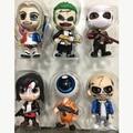 6 pçs/set Filme Esquadrão Suicida Coringa/Deadshot/Harley Quinn Figura Brinquedos Estatueta de Vinil Action Figure Collectible Modelo Toy oyuncak
