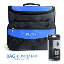 PS4 bag Travel Storage Carry Case Cover Carrying Protective Shoulder Bag For Sony PS4 Playstation 4 Console + USB 2.0 Hub