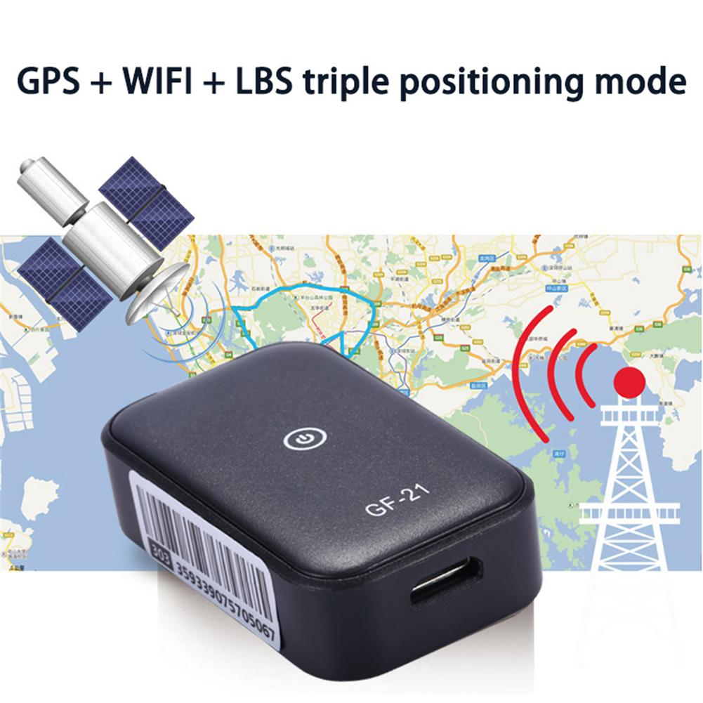 Mini GPS Car Tracker Anti Lost Device Voice Control Can Recording High definition Microphone WIFI+LBS+AGPS Positioning