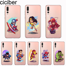 ciciber Cover For Huawei P30 P20 P10 P9 P8 Lite Pro Plus 2017 P smart 2019 Phone Cases Soft TPU Marvel DC Iron Man Batman Coque(China)
