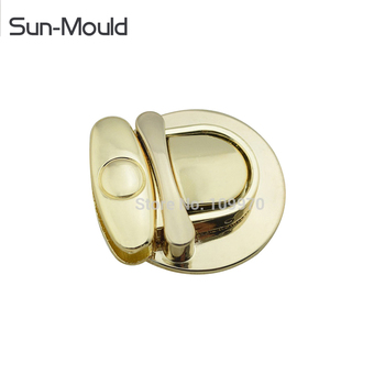 Gold tone  handbag hardware metal snap lock buckles leather purses handbags shoulder women fashion bag decoration 50pcs Via DHL