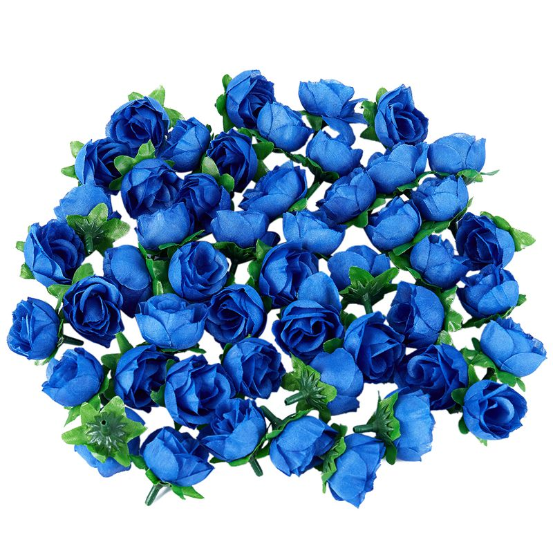 50 Artificial Roses, 3 Cm Tall, Wedding Decoration, Navy Blue