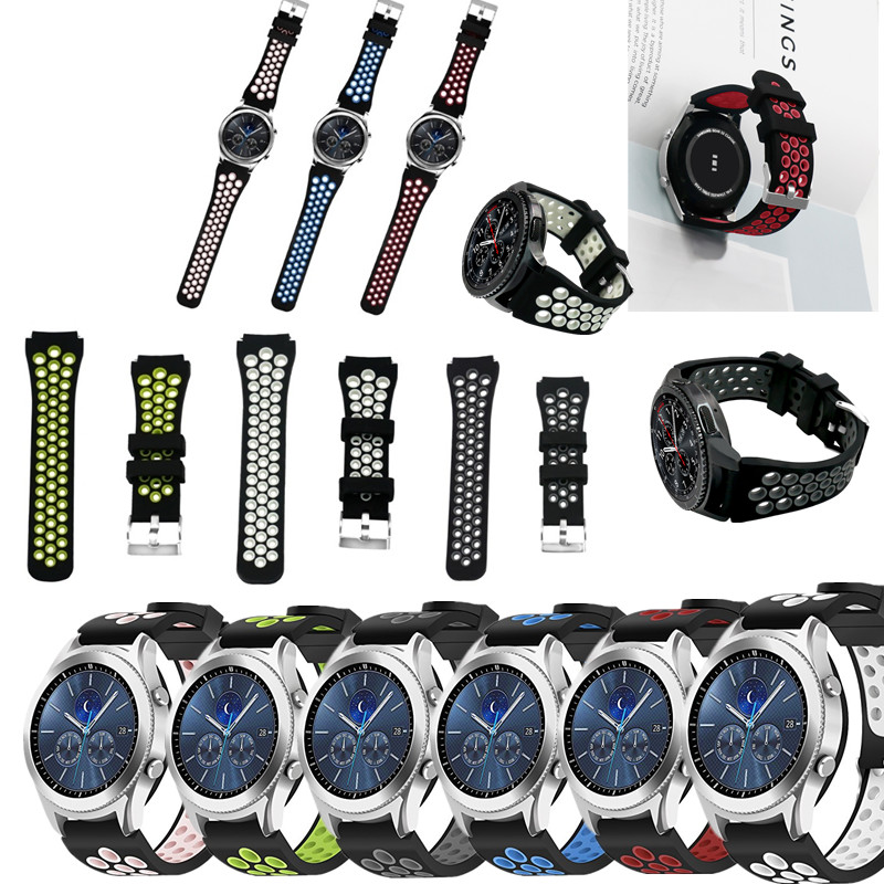 ASHEI Silicon WatchBands For Samsung Gear S3 Strap Watch Bands 22mm Replacement silicone Band For Samsung Gear S3 Classic/Front jansin 22mm watchband for garmin fenix 5 easy fit silicone replacement band sports silicone wristband for forerunner 935 gps