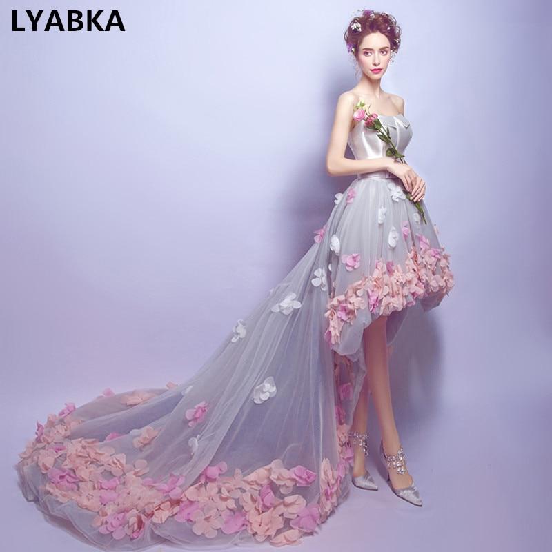Gowns For Women: Vintage High/Low Prom Dresses 2019 Vestido De Festa