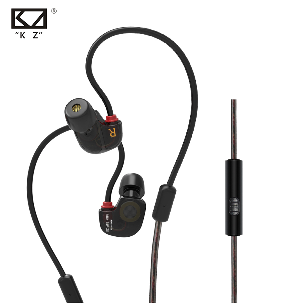 Original New Original KZ ATE-S Earphones HIFI KZ ATE S Stereo Sport Earphone Super Bass Noise Canceling Hifi Hearphones With Mic
