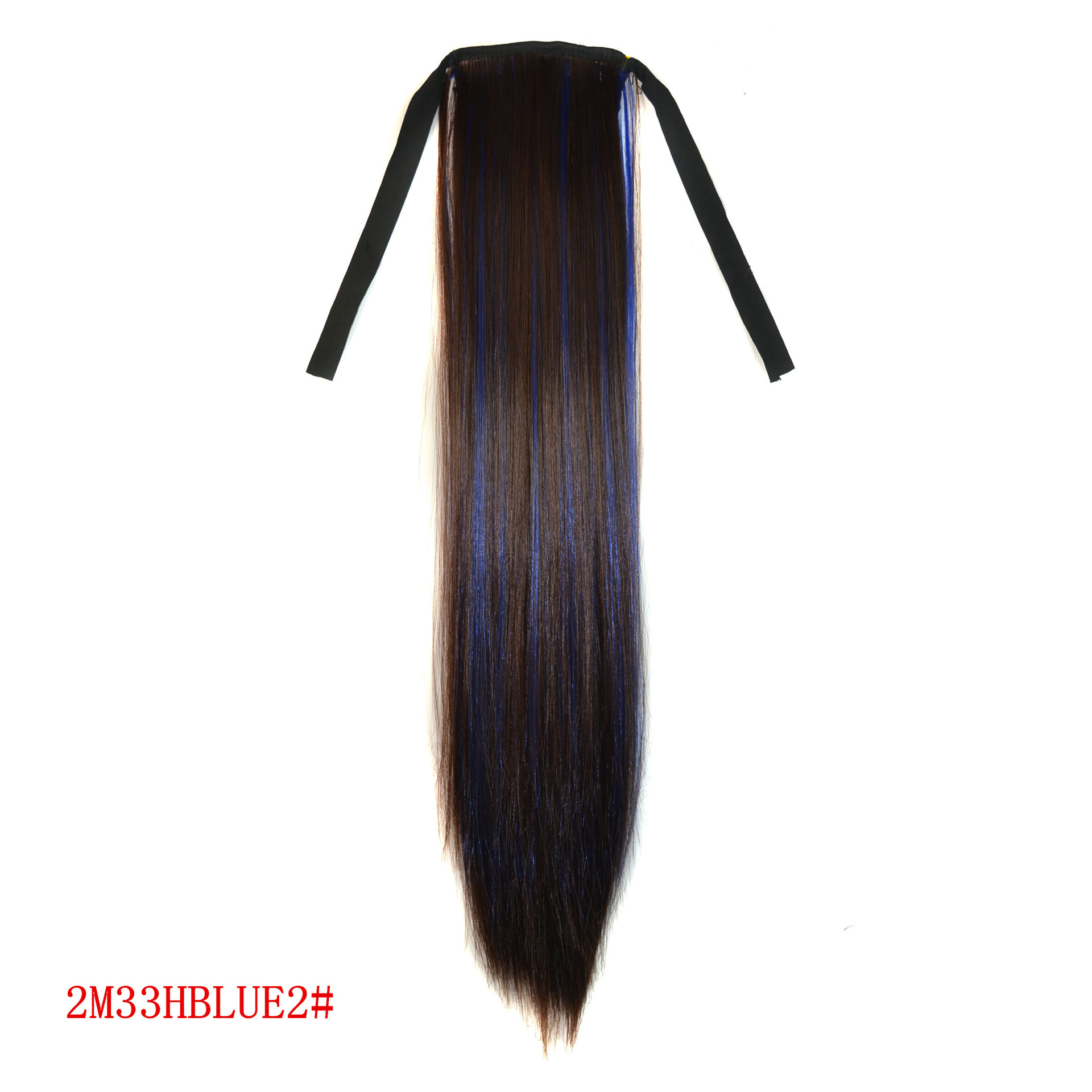 Hight quality hair accessories 80g 55cm straight hair jewelry extension synthetic hairwear for womens bundled ponytails