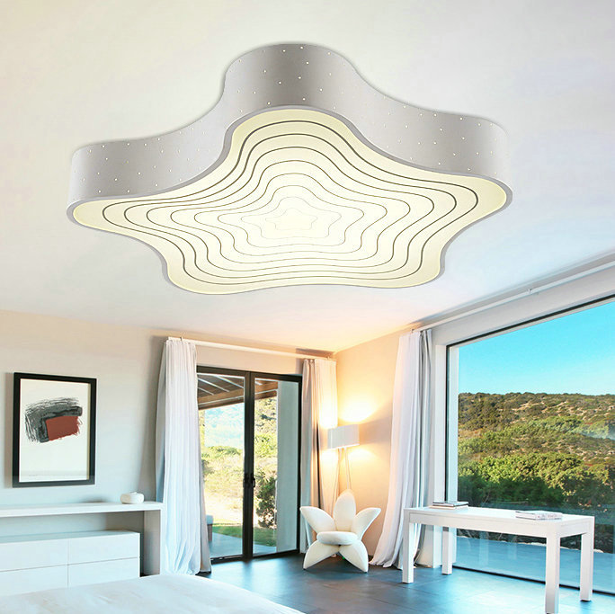 Mercury Modern LED Flush Mount Ceiling Lamp Lighting Fixture For Living Room  Bed Room Or Children Room Free Shipping In Ceiling Lights From Lights ...