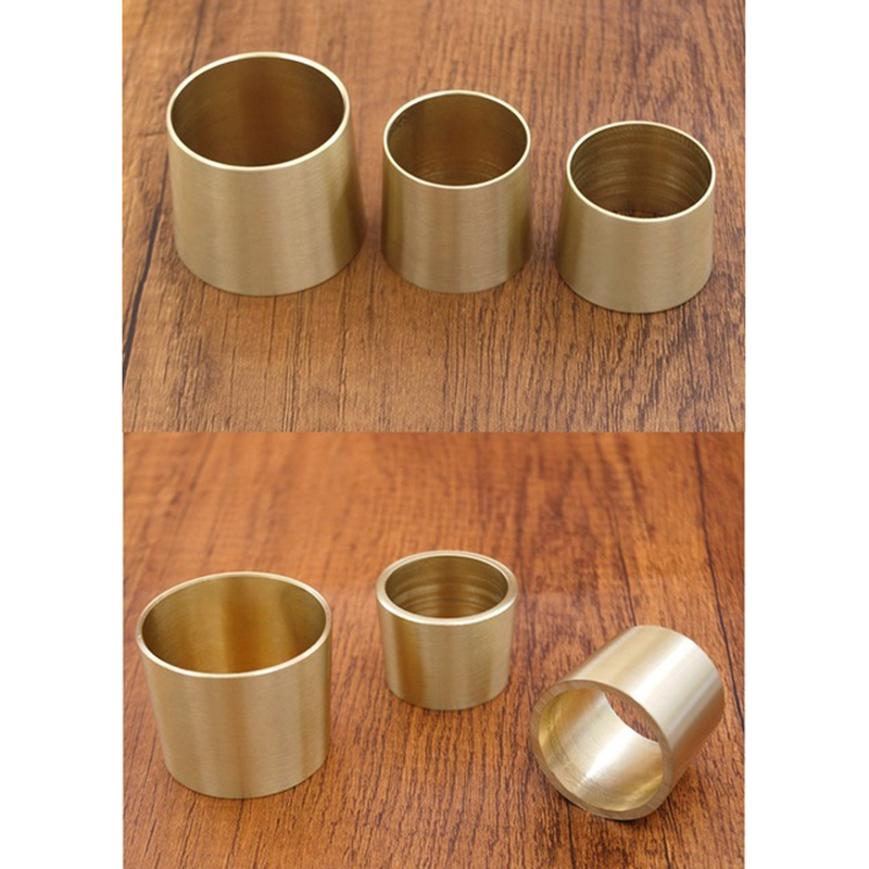 4Pcs/Lot Round Brass Tip Cap For Mid-Century Modern Table Leg Feet Replacement Cover And Sofa Foot Cover Tapered