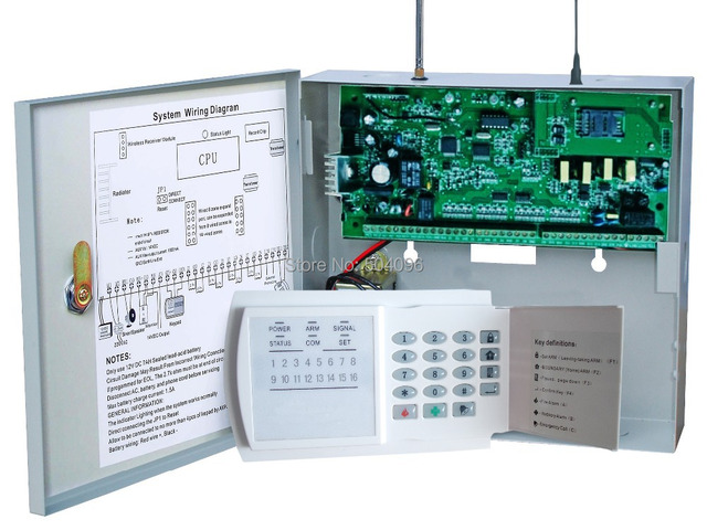 Home GSM PSTN Dual network wired wireless alarm panel with 3 remote control 1pc 8 way_640x640 home gsm pstn dual network wired wireless alarm panel with 3 remote