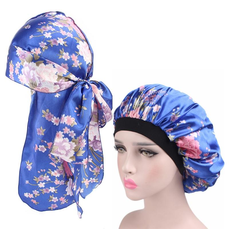 Femmes Maille nuit sommeil Cap Soin des Cheveux Bonnet Chapeau Coiffure Satin Large Bande Caps