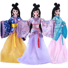New 12 Moveable Joints Doll Toys Body Dolls with Clothes Jewelry Chinese Type Princess Toy For Girls