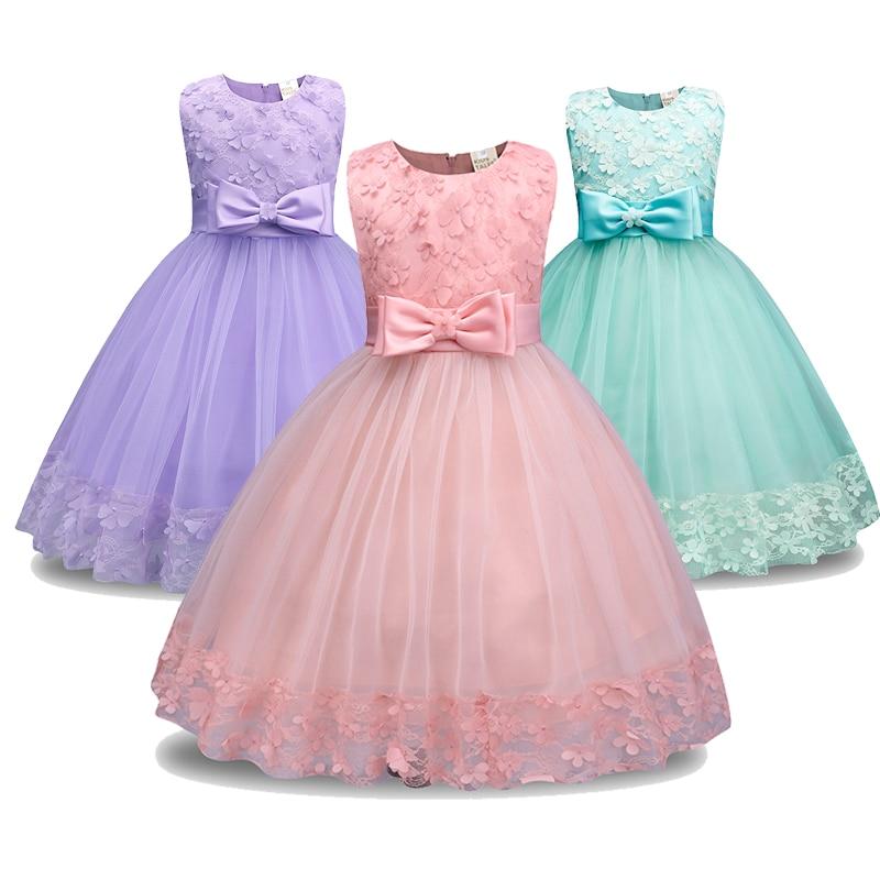 Retail Children Girl Party Dress 2018 New Style Flowers Girl Wedding ...