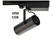 COB 30W Led Track light aluminum Ceiling Rail Track lighting Spot Rail Spotlights Replace Halogen Lamps AC240V IP20