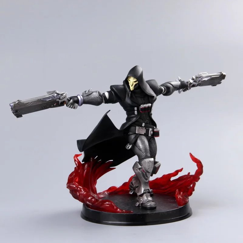 Free Shipping 11 Game OW Reaper Gabriel Reyes Battle Ver. Boxed 28cm PVC Action Figure Collection Model Doll Toy Gift free shipping 6 comics dc superhero shfiguarts batman injustice ver boxed 16cm pvc action figure collection model doll toy