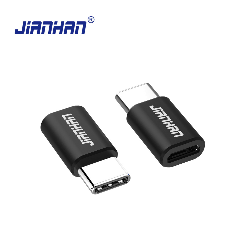 JianHan USB Type C Converter Adapter Micro USB to USB C Charging Adapter for Huawei P10 LG G6 G5 Xiaomi 4C OnePlus 3T Lumia 950 in Data Cables from Consumer Electronics