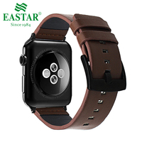 Eastar Black Genuine Leather Bracelet For Apple Watch Band 42mm 38mm IWatch Watch Accessories For Apple
