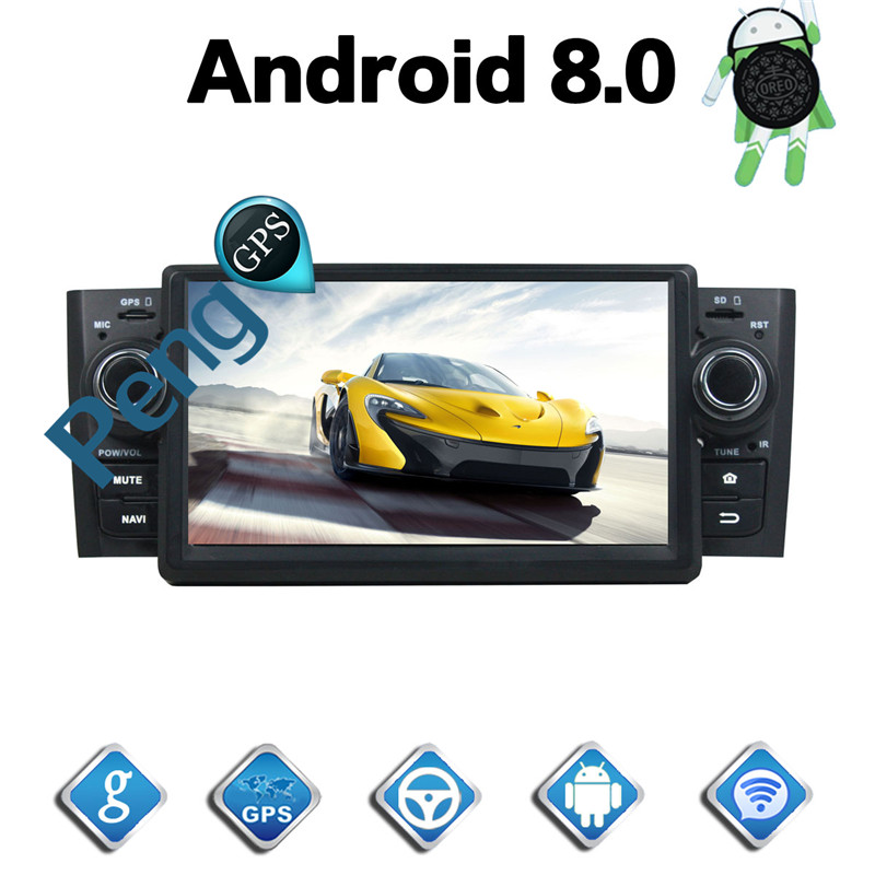 2 Din Android 8,0 автомобиль CD DVD плеер 8 ядерный gps навигация для Fiat Punto Linea 2012 1080P HD стерео 2007 экран Авторадио