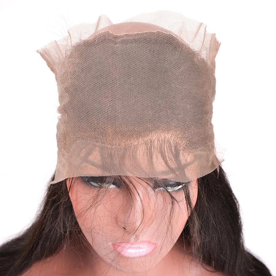 Mslynn Para këputur 360 Dantel Mbyllja frontale me flokë për - Flokët e njeriut (të zeza) - Foto 3