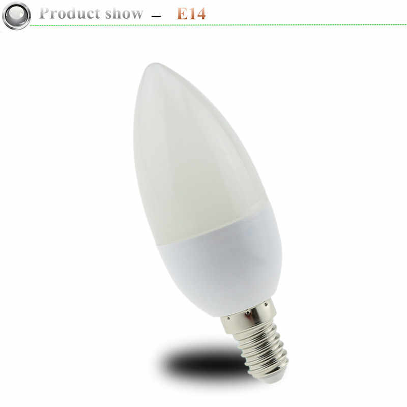 1X5 W 7W LED โคมไฟเทียน E14 E27 220V ประหยัดพลังงาน Spotlight WARM/Cool สีขาวโคมระย้าโคมไฟคริสตัล Ampoule Bombillas บ้าน Lig