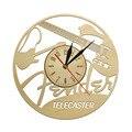 Fender Blacktop Telecaster Baritone оригинальные настенные часы деревенские Подвесные часы деревянный знак символ Декор гитара современные деревянные час...