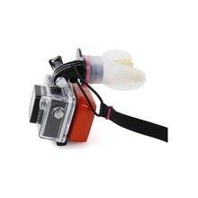 Suporte de dentes surf mergulho subaquático flutuador silicone boca montagem para gopro hero 8/7/6/5/4/3/3 +